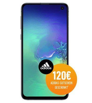 📱 Samsung Galaxy S10e für 5€ + 120€ adidas Gutschein gratis + Vodafone Allnet Flat mit 7GB LTE für 36,99€ mtl.