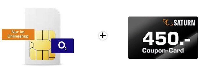 o2 Allnet Flat mit 20GB LTE für 34,99€mtl + dazu: 450€ Saturn Coupon