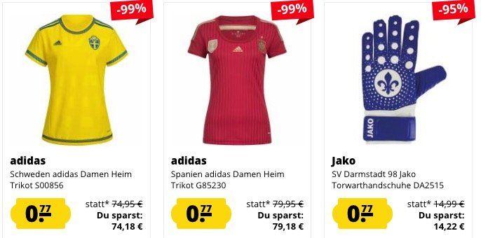 SportSpar Restgrößen Sale mit Artikeln für je 0,77€ zzgl. VSK