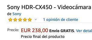 Sony HDR CX450 Full HD Camcorder für 239€ (statt 332€)