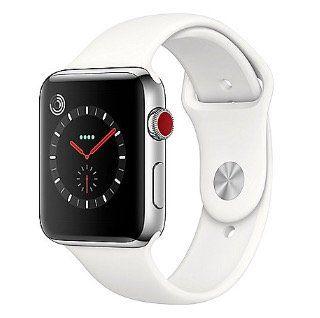 Apple Watch Series 3 (GPS + Cellular) mit Edelstahl Gehäuse 42mm und Sportarmband für 333€ (statt 389€)