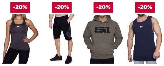 25% Rabatt auf 10 ESN Topseller Produkte oder 20% auf ESN Sportswear bei Fitmart   z.B. 4kg ESN Whey für nur 56,68€ (statt 69€)