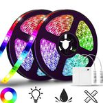 2x 2m LED Streifen (SMD5050) mit 20 Farben, 20 Modi & IP65 für 12,44€ – Prime