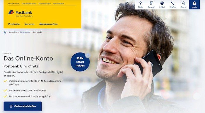 100€ Prämie für das Postbank Girokonto   nur Neukunden (12 Monate kein Kunde)