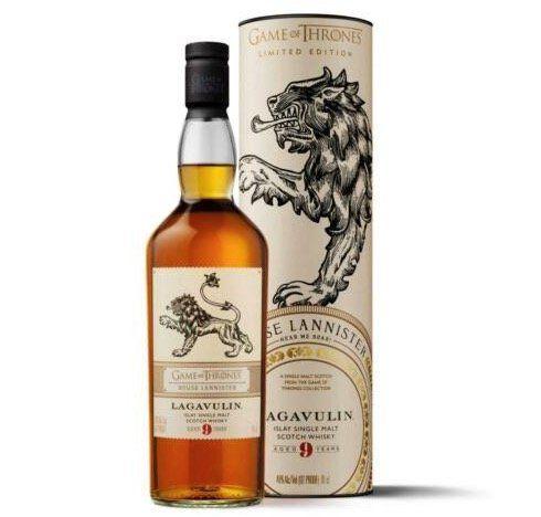 Game of Thrones Whisky Lagavulin Haus Lannister + 2 gravierte Gläser für 77,75€