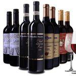 8 Flaschen Wein Probierpaket aus Italien + 4 Weingläser für 49,99€