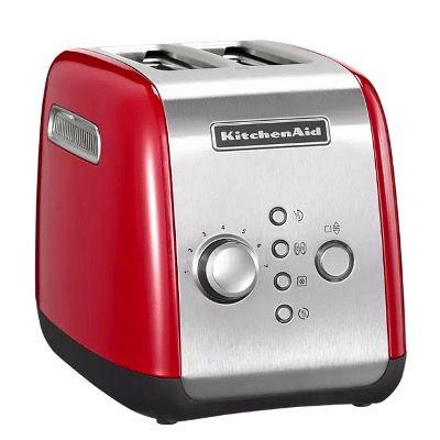 KitchenAid 5KMT221EER 2 Scheiben Toaster in Rot für 74,99€ (statt 90€)