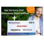 Consorsbank: Konsteloses Trader Konto 📈 mit 100€ BestChoice Gutschein   ab 3,95€ pro Trade