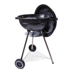 Dangrill Kettle BBQ Basic Kohle Kugelgrill mit Unterbau und Rädern in Schwarz für 15€ (statt 34€)