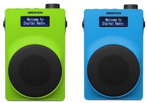 Medion LIFE E66880 UKW DAB+ Radio in Grün, Weiß oder Blau für 19,95€ (statt 40€)