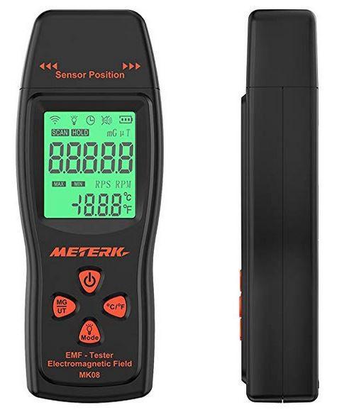 EMF Meterk digitales elektromagnetisches Strahlenmessgerät 30 300Hz für 15,99€ (statt 26€) [Prime]