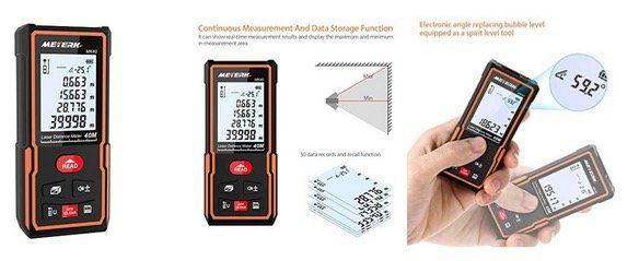 Meterk Laser Entfernungsmesser MK40 staub  & wasserdicht für 17,49€ (statt 25€)