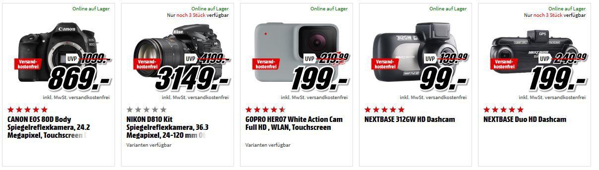 Media Markt Foto Late Night Aktion: günstiges Foto & Zubehör: z.B. ROLLEI Sportsline 64 wasserdichte Digitalkamera für 25€ (statt 35€)