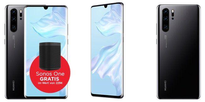 💥 Mega Knaller! Huawei P30 Pro + Sonos One für 699€ (statt 1.099€) mit Congstar AllNet mit 4GB für 20€ mit 1 Monat Mindest Laufzeit