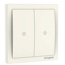 Koogeek WiFi Smart Lichtschalter für z.B. Apple HomeKit und Siri für 27€ bei Prime   oder 2 Stück für 50€