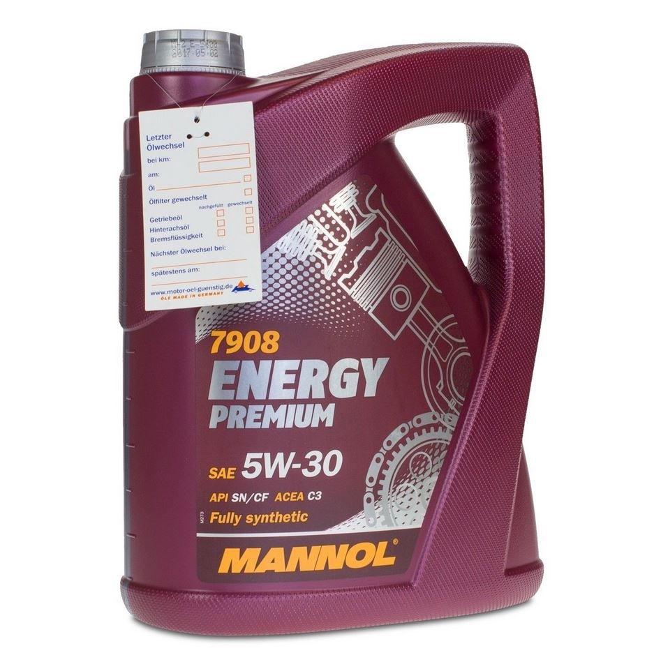 MANNOL Energy Premium 5W 30   5 Liter Kfz Öl für 16,49€ (statt 21€)