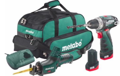 Metabo 10.8V Akku Bohrschrauber BS + ASE Akku Säbelsäge im Set für 114,71€ (statt 163€)
