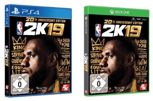 NBA 2K19 20th Anniversary Edition (PS4 und Xbox) für 25€ (statt 89€ oder 65€)