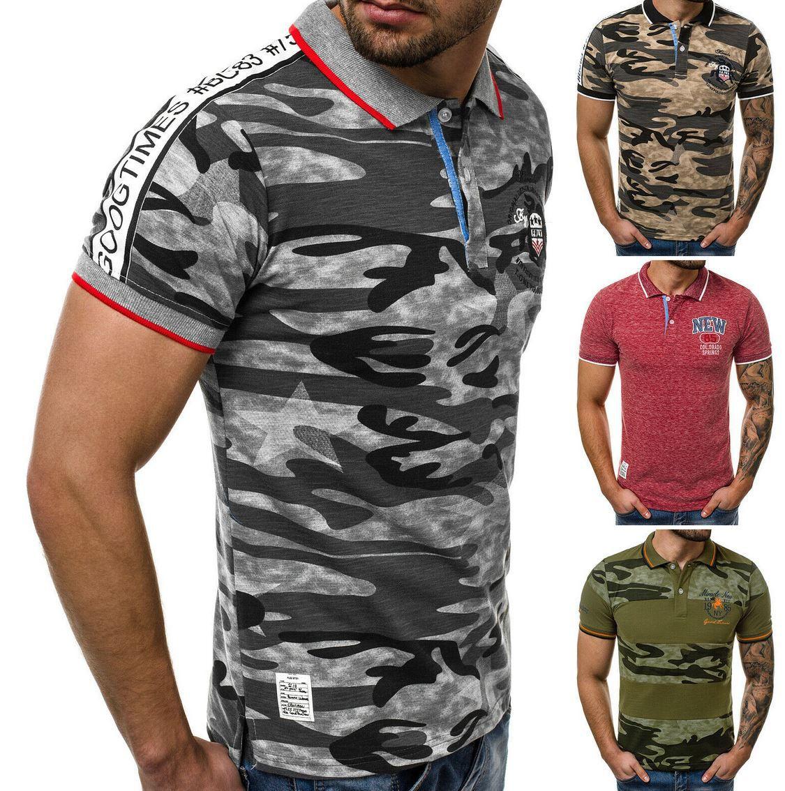 OZONEE 9505   Herren Kurzarm Poloshirt mit Kentkragen für je 10,45€ (statt 15€)