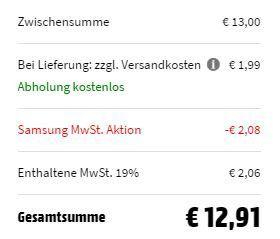 SAMSUNG EP P1100 Ladegerät in Schwarz für 12,91€ (statt 18€)