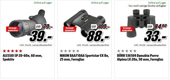 Media Markt Foto Late Night Aktion: günstiges Foto & Zubehör: z.B. Dörr Alpina Pro 20x50 GA Fernglas für 33€ (statt 43€)