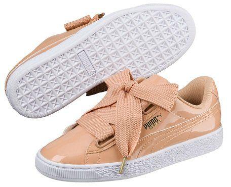 PUMA Basket Heart Patent Damen Sneaker rosa u. grau für 17,50€ (statt 30€)