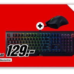 🔥 Razer BlackWidow Elite Green Switch + Razer Deathadder Elite Gaming Maus für 129€ (statt 194€)