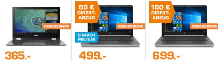 Saturn Late Night Notebook und Tinte & Toner 💻 Nacht: z.B. HP 14 ma0351ng   i7Notebook 16GB RAM 256GB SSD für 898€ (statt 999€)