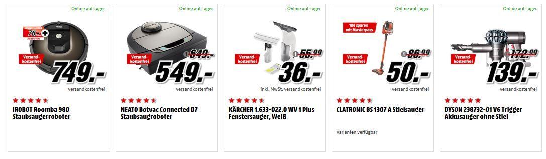 Media Markt Staubsauger  Aktion: z.B. NEATO Botvac Connected D7 Staubsaugroboter für 549€ (statt 599€)