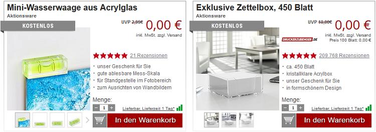 Bluetooth Headset + 2 Gratisartikel bei Druckerzubehoer.de für 5,97€