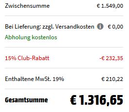 LG GSJ 761 PZTZ Side by Side Kühlgefrierkombination mit 601 l Gesamtvolumen für 1.316,65€ (statt 1.499€)