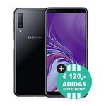 Samsung Galaxy A7 2018 + 120€ adidas Gutschein für 4,95€ + Blau Allnet L Classic mit 3 GB LTE Datenvolumen für 14,99€ mtl.