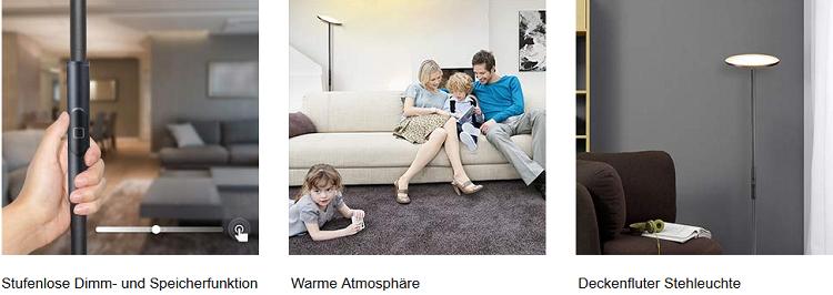 TECKIN Stehleuchte FL41 (warm weiß, kompatibel mit Alexa, dimmbar) für 40,59€ (statt 58€)