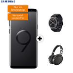 Knaller! Samsung Galaxy S9+ inkl. Sennheiser HD 4.50 + Galaxy Gear S3 frontier für 88,99€ + Allnet-Flat im Vodafone-Netz mit 8GB für 29,99€ mtl.