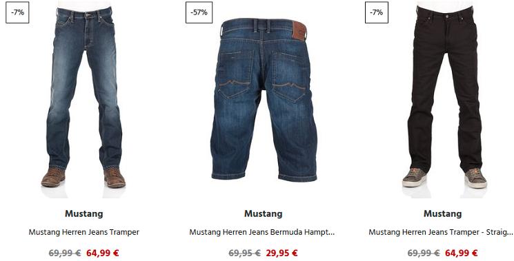 Jeans Direct mit bis zu 70% Rabatt auf MUSTANG Fashion + 15% Rabatt ab 30€ MBW   Oberteile ab 12,95€