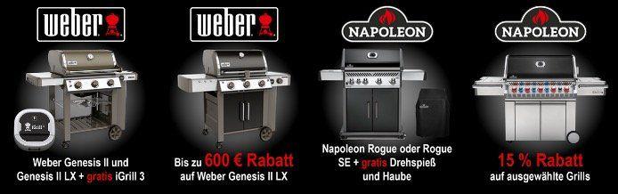 Alternate Grill Saison 🍖 z.B. Weber Genesis II LX E 340 inkl. iGrill3 nur 1249€ (statt 1599, )