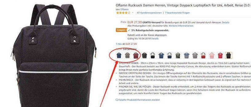 Oflamn Vintage Rucksack mit Laptopfach für 15,39€ (statt 28€)