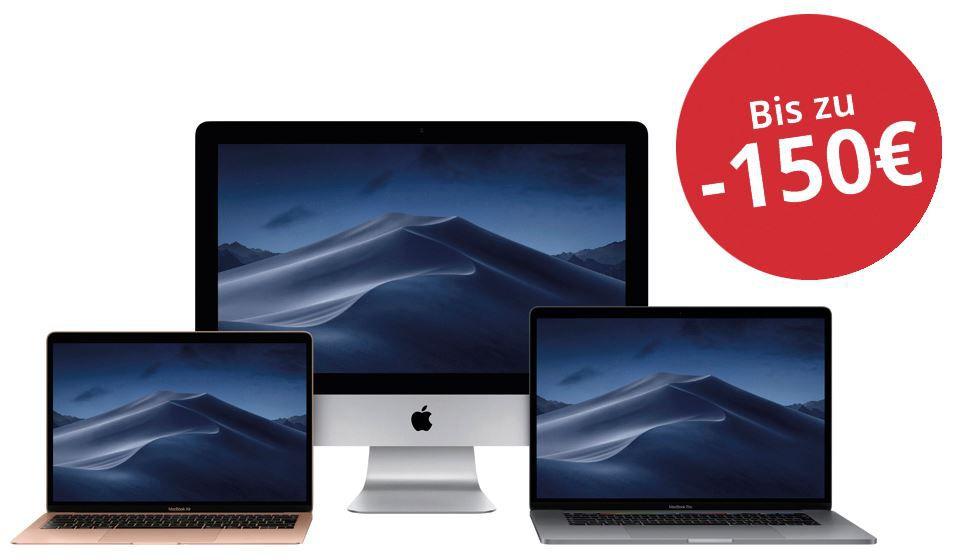 MacTrade: Bis 150€ Rabatt auf iMac, Mac Pro oder MacBook + Garantieverlängerung im Wert von 50€