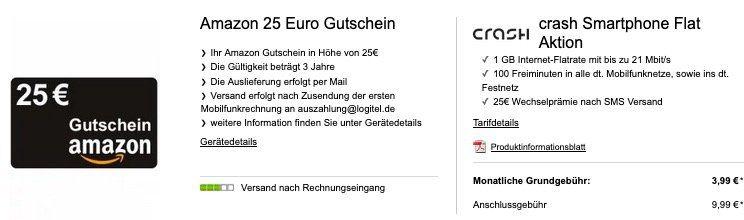 Telekom Netz mit 100 Freiminuten + 1GB (kein LTE) für 3,99€ mtl.   dazu 25€ Amazon oder JBL Clip 3