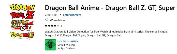 Dragon Ball Video Collection auf PC und XBox One gratis anschauen