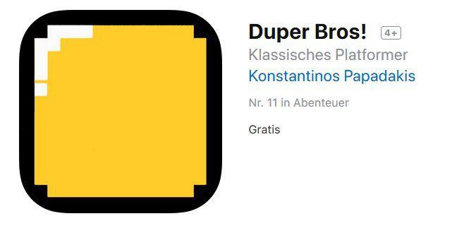iOS App:  Duper Bros! kostenlos (statt 1,09€)