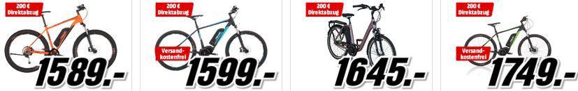 MM Frühjahrsstart mit Mega Preisen für ausgewähle E Bikes, Fahrradanhänger und Fahrradzubehör
