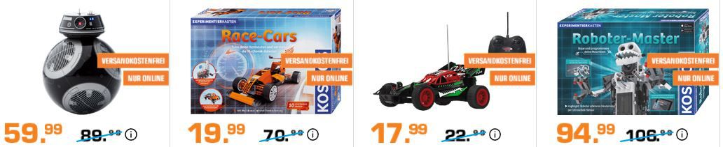 Saturn Entertainment Weekend Deals: z.B. SPHERO BB9E Appgesteuerter Star Wars Droide für 59,99€ (statt 71€)