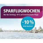 🛩️ Eurowings Sparflugwochen: bis Sonntag 10% auf innerdeutsche Flüge z.B. Köln – Berlin ab 18,99€
