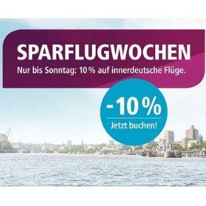 🛩️ Eurowings Sparflugwochen: bis Sonntag 10% auf innerdeutsche Flüge z.B. Köln   Berlin ab 18,99€