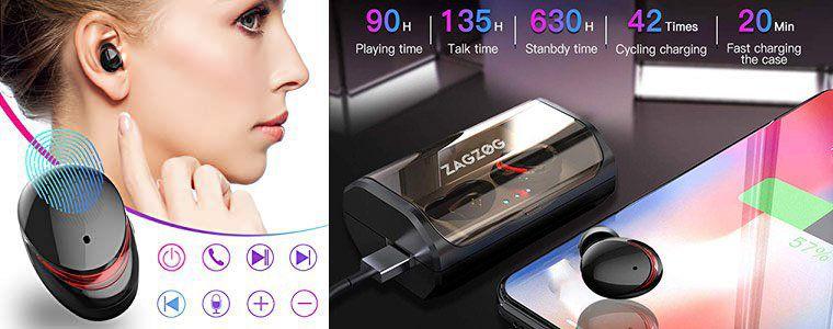 Zagzog T8 TWS Bluetooth Kopfhörer mit BT 5.0, CVC8.0 & Ladebox für 33,59€ (statt 56€)