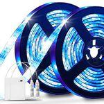 2x 2m LED Streifen (SMD5050) mit 20 Farben, 20 Modi & IP65 für 12,79€ – Prime