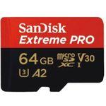 SANDISK Extrem Pro 64 GB Micro-SDXC Speicherkarte mit 170 MB/s für 20€ (statt 28€)