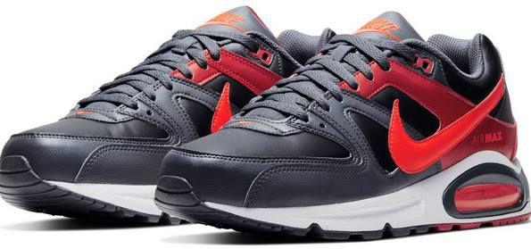 Nike Air Max Command Leder Sneaker in Black/Bright Crimson für 79,90€ (statt 129€)