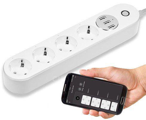 4 fach Steckdosenleiste mit 3 USB Ports inkl. Alexa  & Google Home Support für 22,79€
